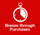 Breeze through purchases