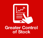 greater control of stock