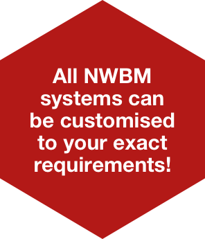 All NWBM systems can be customised