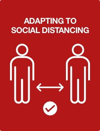 How can the hospitality industry adapt to social distancing?